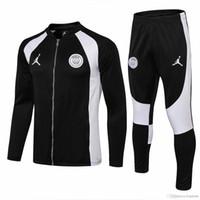 güç bankası yeşil toptan satış-3 takım Ücretsiz DHL psg siyah beyaz ceket 18 19 Şampiyonlar Ligi AJ Paris eşofman CAVANI futbol formaları setleri MBAPPE eğitim takım elbise