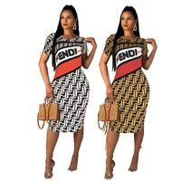 mini saia alta venda por atacado-Das mulheres one piece dress saia sem mangas verão designer vestido na altura do joelho-alta qualidade bodycon saia elegante clubwear de luxo klw1043