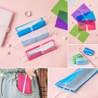 Wholesale Mask Storage Box Organizer Colorful Dustproof Mask Folder Container Foldable Disposable Windproof Face Masks Safe Pollution Free
