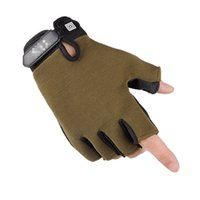 Wholesale golf twill resale online - Half Finger Gloves Thin Bodybuilding Mittens Man Outdoor Sports Non Slip Wear Resisting Camouflage Colors Mix dxf1
