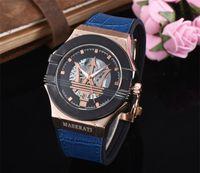 dz acero al por mayor-Invicta Dz Relojes de cuarzo Menes Mujeres Top Brand Maserati Cuero Acero Relojes Relojes Hombre Horloge Orologio Uomo Montre Homme SPROT Reloj