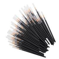 tek kullanımlık göz kapağı aplikatörleri toptan satış-Tek kullanımlık Eyeliner Fırçalar Bireysel Aplikatör Süper Fiber Çubukla Eyeliner Sıvı Değnek Eyeliner Profesyonel Fırça 50 adet / takım RRA1188