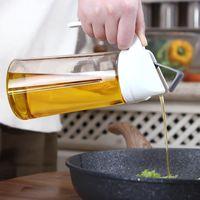 frascos de vinagre de óleo venda por atacado-Origem Auto Virar Olive Oil Bottle abertura automática de encerramento vidro Tempero Jar molho de soja Vinagre Pot 300 ml / 11 oz 600ml / 630ml 21 oz / 22 oz