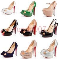 plataforma sexy zapatos de verano al por mayor-Con la caja 2019, el mejor diseñador, la boca de pescado sexy, la plataforma impermeable, el tacón alto, para mujeres, con zapatos de primavera y verano de color rojo claro y con fondos.