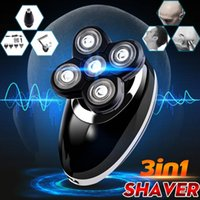 Wholesale grooming hair clipper trimmer resale online - SPZ in USB Male Electric Shaver Rechargeable Washable Bald Head Rotary Beard Shaver Razor Hair Trimmer Clipper Grooming Kit