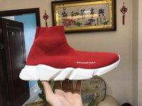 männer flache schuhe verkauf großhandel-2019 heißer Verkaufs-Entwerferart und weisestiefel für Frauenmänner Geschwindigkeits-Trainer-rote dreifache schwarze flache beiläufige Schuhe Socken-Aufladungs-Mens Turnschuhschuh