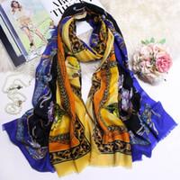 ingrosso hijabs di stampa animale-Nuove sciarpe spesse invernali Sciarpe e scialli di lusso lunghi Avvolge Hijab Pashmina Sciarpe in cashmere con stampa animalier per donne Chic Fashion