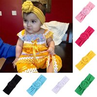 Wholesale color cotton hair band for sale - Group buy INS children spiral headband for baby girls knotted hair band solid color cute cotton hair accessories