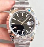 флейты оптовых-Мужские часы Мужские автоматические Cal.3235 Флейта Ободок Полностью стальная твердая полоса Мужчины 116334 Часы Sapphire Dive 41MM Дата Eta Наручные часы