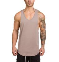nefes alabilen dış giyim toptan satış-Erkek Tasarımcı Yelek 2019 Yaz Kolsuz Spor Giyim V Yaka Nefes Erkekler Tişörtleri Casual Yumuşak Tops Giyim 5 Renkler M-2XL