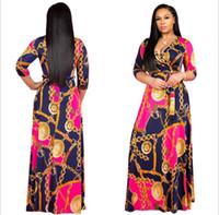 traditionelle heiße kleider großhandel-Heißer verkauf neue mode design traditionelle afrikanische kleidung drucken dashiki schönen hals afrikanische kleider für frauen