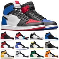 Wholesale boy high tops for sale - Group buy 7 Mens Top High OG basketball shoes Resale Black Toe Banne mid chicago Track Red s UNC mens designer Trainers Sneakers
