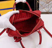 moda cross corpo mulheres bolsa venda por atacado-2019 Mulheres Designer de Bolsas de Ombro Genunie Moda Couro bolsas Speedy Travesseiro saco Com Fechadura e Chave Saco de Corpo Da Marca Cruz 42400