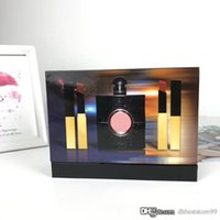 Wholesale black lipstick sale resale online - Women Perfume Perfumes Hot Sale ml Lipstick Set Black Flavor Small Gold Bar with High Quality Long Lasting Fragrance Fast Delivery