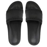 ingrosso pantofole bianche per gli uomini-2019 Con la scatola calda di marca Uomo donna Beach Slide Sandali Medusa Scuff Pantofole Uomo bianco Beach Fashion slip-on sandali firmati US 5.5-12