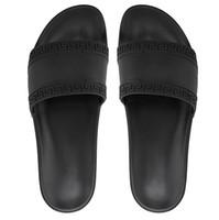 plaj terlik markaları toptan satış-Kutu Ile 2019 sıcak marka Erkekler kadınlar Plaj Slayt Sandalet Medusa Scuffs Terlik Erkek beyaz Plaj Moda kayma-on tasarımcı sandalet ABD 5.5-12
