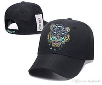 schöne hüte großhandel-Nette Hysteresen-Marken-Tiger-Kopf-Baseballmütze Bestickte Trucker Dad Caps für Männer Box-Logo Dome Hüte Casquette Gorras Mütze DF15G24