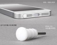 kulaklık jakı prizi toptan satış-iPhone 5 5G 5S 5000sets için Iphone 5 Silikon 8pin Toz Geçirmez Tak dock Kapak + Kulaklık Jack Cap Toptan