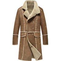 vestes de mode nobles achat en gros de-Long manteau de laine de luxe homme hiver veste en peau de mouton fashion fashion veste en peau de mouton noble noble