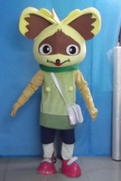 Wholesale squirrel bag resale online - Light and easy to wear a squirrel mascot costume with white bag for adult to wear