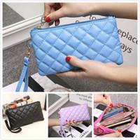 кошелек для мобильного телефона оптовых-Lingge клатч Candy colors новый 2019 сумка для мобильного телефона кошелек модная сумка женская кожаный кошелек