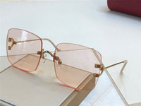 Wholesale women modeling sunglasses for sale - Group buy New fashion designer sunglasses s frameless round frame weave modeling sunglasses top quality protection eyewear
