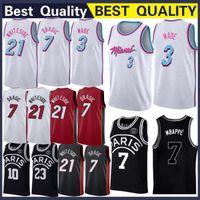 Wholesale s wear top for sale - Miami Dragic Goran Heat jersey Wade Dwyane Whiteside Hassan Basketball Wear Basketball Jerseys Top Quality Stitched