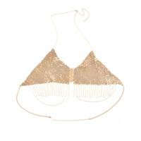 collar de cadena del vientre del esclavo al por mayor-2018 Mujeres Club Nocturno Partido Cadena Cadena Joyería Bikini Cintura Belly Beach Collar Esclavo 0503 # 10