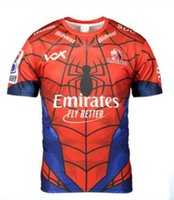 aficionados al rugby al por mayor-2019 New Super Rugby Mens Junior Sudafricano Lions The Lions Marvel Comic SuperHero Spiderman Fan Tee Spiderman Marvel Jersey