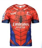 jerseys spiderman venda por atacado-2019 New Super Rugby Mens Junior Sul-Africano Emirates Lions O Lions Marvel Comic Super-Herói Spiderman Fan Tee Homem-Aranha Marvel Jersey