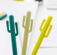 nettes briefpapier großhandel-Kreative kleine frisch Wüsten-Kaktus-Styling Pen Südkorea-Briefpapier-Karikatur-netter Gel-Feder-Student Prize freie DHL-0946 001