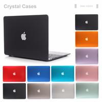 bolsas para laptop de 17 pulgadas al por mayor-NUEVA Funda transparente de cristal transparente para Apple Macbook Air Pro Retina 11 12 13 15 Funda para portátil Bolsa para Mac libro de 13,3 pulgadas
