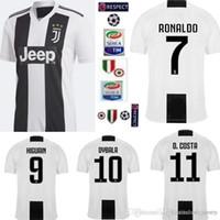New 2019 RONALDO JUVENTUS Soccer Jersey 18 19 JUVE 2018 Home Away DYBALA  HIGUAIN Football Shirt CRISTIANO Uniform Team a165e9ce4