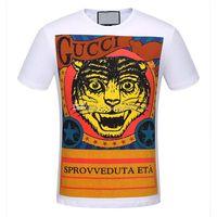 805066780a46f6 2019 New Fashion Unisex Estate T Shirt Donna Top Tiger Head Lettera Stampa  T-Shirt Cotone manica corta Tshirt Donna Uomo Top nero bianco