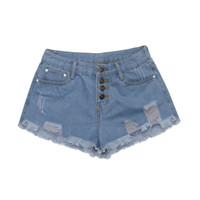 chicas coreanas de verano pantalones cortos al por mayor-Pantalones Vaqueros Pantalones Vaqueros de Las Mujeres Señoras de Verano Pantalones Cortos de Mezclilla Sexy Pantalones Cortos de Estilo Coreano Feminino 2019 Girls Hot Pants mujer