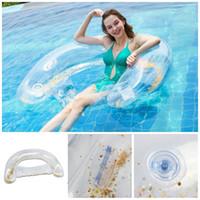 ingrosso acqua pvc piscina-Schienale con paillette galleggiante reclinabile in PVC letto gonfiabile per l'acqua adatta per piscina all'aperto per adulti anello di nuoto per adulti 31hh E1