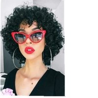 Wholesale peruvian spiral hair for sale - Group buy European hot Invisible sprial Curly Lace Front Human Hair Wigs With Bang For Black Women PrePlucked Closure Wig Brazilian Remy