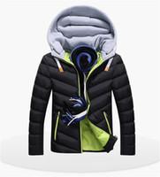 almohadillas para jóvenes al por mayor-Diseñador de invierno abajo chaqueta para hombre de algodón acolchado prendas de vestir exteriores para hombre para hombre engrosado abajo collar de invierno cálido ropa de los varones