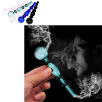 Wholesale Transparent Tobacco Smoking Pipe Glass Oil Burner Pipe Glassware Herb Hookah Cigarette Shisha Tube Smoking Pipes
