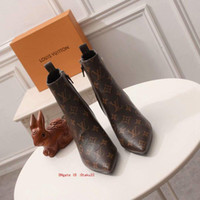 Wholesale large size shoes for women resale online - Enlarge Women shoes crystal Buckle large Size ankle fashion winter womens motorcycle boots leather for Women suede