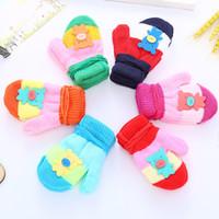 Wholesale anti cartoons online – custom 2019 Styles Children Kids Winter Warm Gloves T Boys Girls Full Finger Knitted Stretch Anti slip Mittens Baby Cute Cartoon Gloves M792F