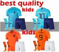 5  WIJNALDUM kids new Nederland kit soccer jersey 1819 home orange  netherlands HOLLAND ROBBEN SNEIJDER V.Persie Dutch away football shirts 6df62b92a
