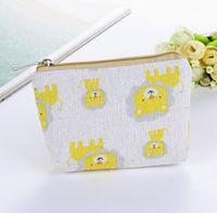 Wholesale elephant purse for sale - Group buy 20pcs Elephant Lion Printed Vintage Zipper Pencil Case Cute Portable Min Key Coin Purse Makeup Bag