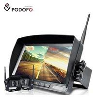 kit de câmera traseira 24v venda por atacado-Podofo Wireless 7