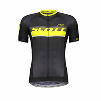 Wholesale scott short sleeve cycling jersey resale online - New pro cycling jersey SCOTT Breathable quick dry bike maillot ropa ciclismo Bicycle short sleeve shirts MTB bicicleta clothing K022501