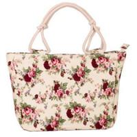 Wholesale lady handbag online - Women Cute Printed Canvas Handbag Fashion Travel Single Shoulder Bag Girl Casual School Bookbag Canvas Shopping Tote LJJT254