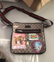 yeni deri evrak çantası toptan satış-Yeni Hakiki Deri Çanta Hayvan Desenleri Crossbody Messenger Çanta Deri Ofis Çanta Erkekler Belge Evrak Seyahat Çantaları için
