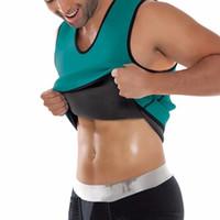 quemador de grasa de cintura al por mayor-Hot Mens Fitness Compresión Adelgazante Tank Shapers Chaleco cintura entrenador camiseta Hot Body Shaper Fat Burner Shaperwear 6Colors caliente A42305