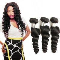 18 zoll peruanische webart großhandel-Peruanische Lose Welle Bundles 100% Echthaarverlängerungen Natürliche Haarwebart Bundles 8-26 Zoll Remy Haarbündel