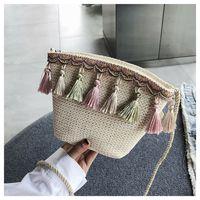 sacola roxa venda por atacado-Sacos novos mulheres Mensageiro Shoulder Crossbody Handmade saco para Lady Tote Hobo Satchel Mini Bolsa Tassel consideravelmente roxo Vintage